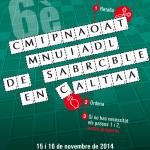 Cartell del 6è Campionat Mundial de Scrabble en català